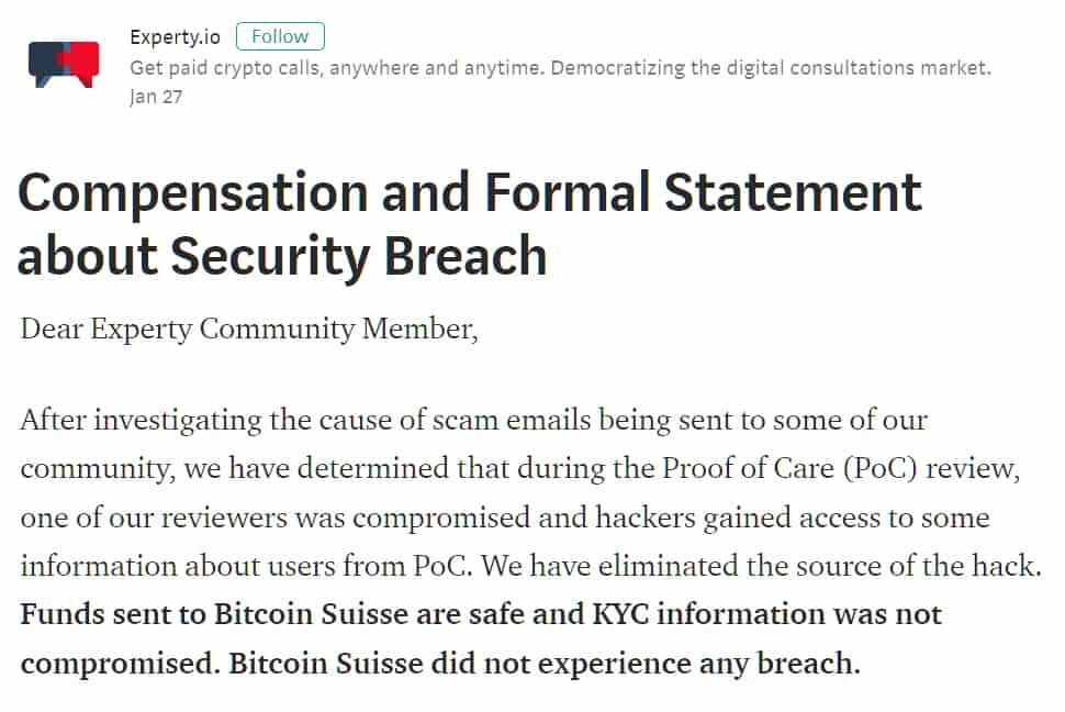 """3 - Se mi """"scammi"""" non vale: The Bee Token hackerata e dati personali trafugati."""